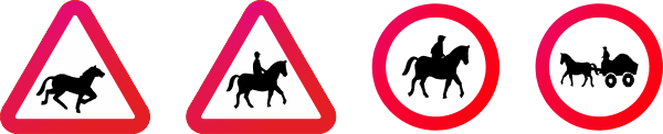 Signs relating to horses